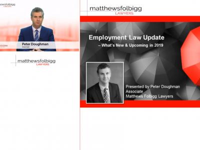 Peter Doughman - Employment Law Update Image