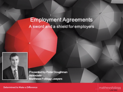 Employment Agreements – A Sword and a Shield for Employers