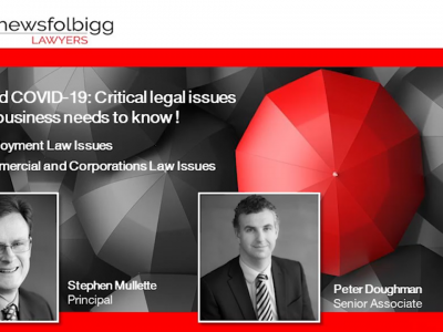 BEYOND COVID-19: Critical legal issues every business needs to know!