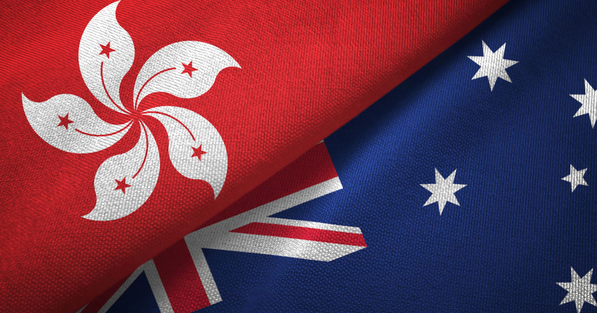 Hong Kong and Australian Flag